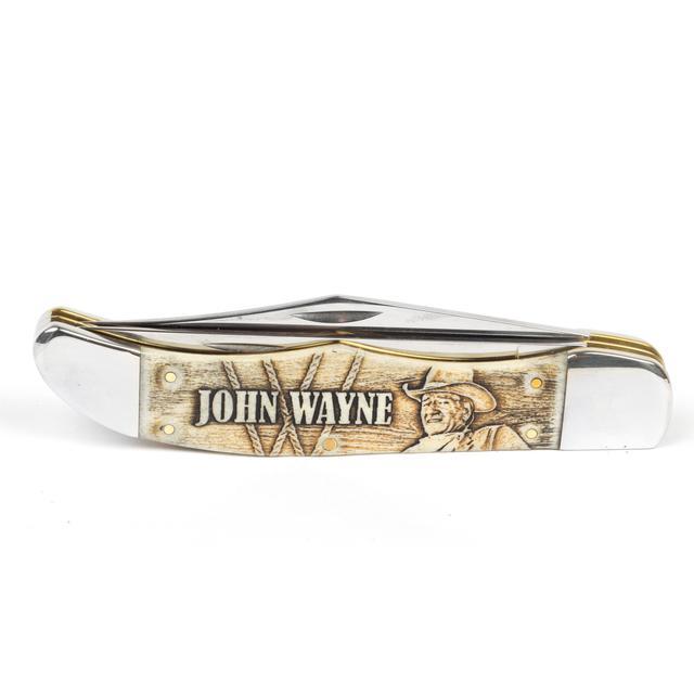 John Wayne Natural Bone Folding Hunter Knife