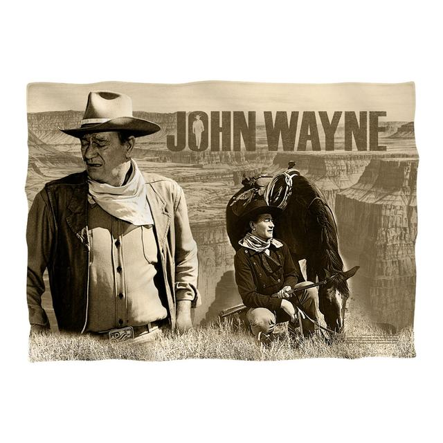 John Wayne Stoic Cowboy Pillow Case