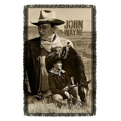 John Wayne Stoic Cowboy Woven Throw