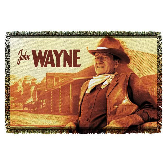 John Wayne Old West Woven Throw