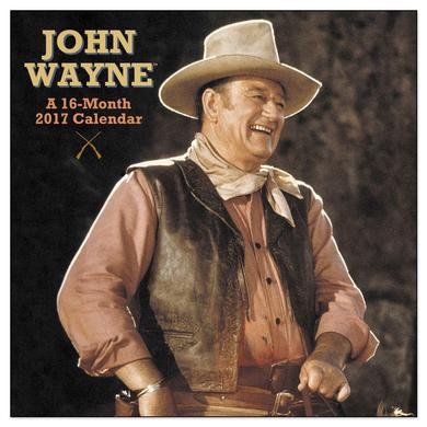 John Wayne 16-Month 2017 Wall Calendar