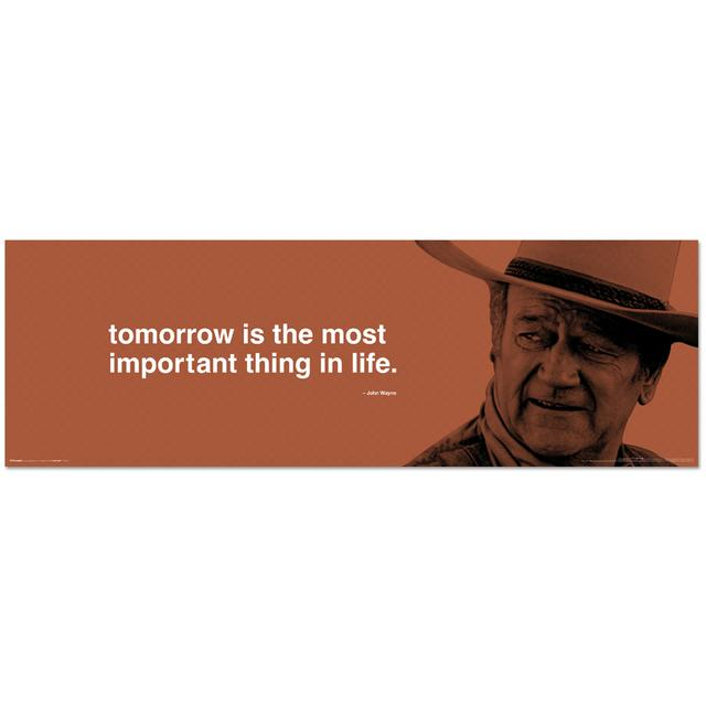 John Wayne Tomorrow 11.75x36inch Slim Print