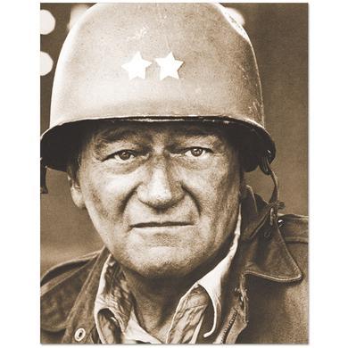 John Wayne Army Hat 11x14inch Print