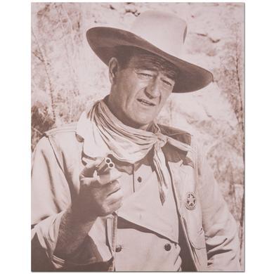 John Wayne Pistol Point 11x18inch Print