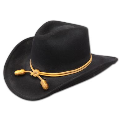 "John Wayne Collection  ""The Fort"" (Crushable) Replica Wool Black Hat"