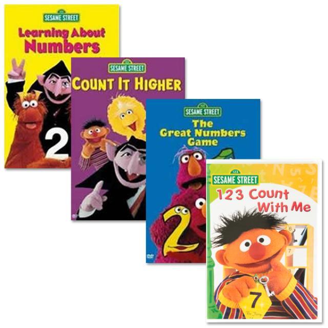 Sesame Street Learning Numbers DVD Bundle