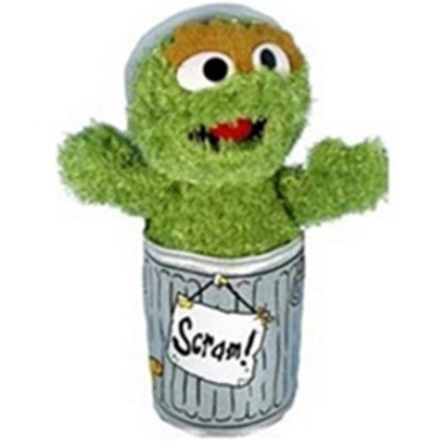 Sesame Street Oscar the Grouch 10 Inch Plush