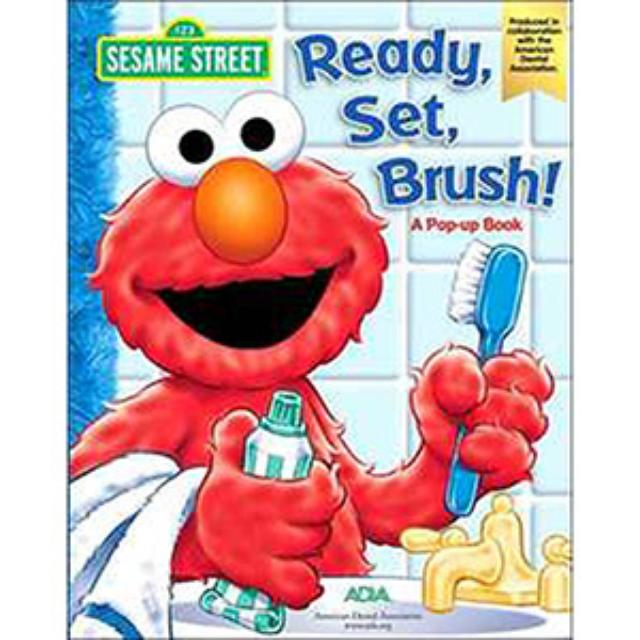 Sesame Street Ready, Set, Brush Pop-Up Book