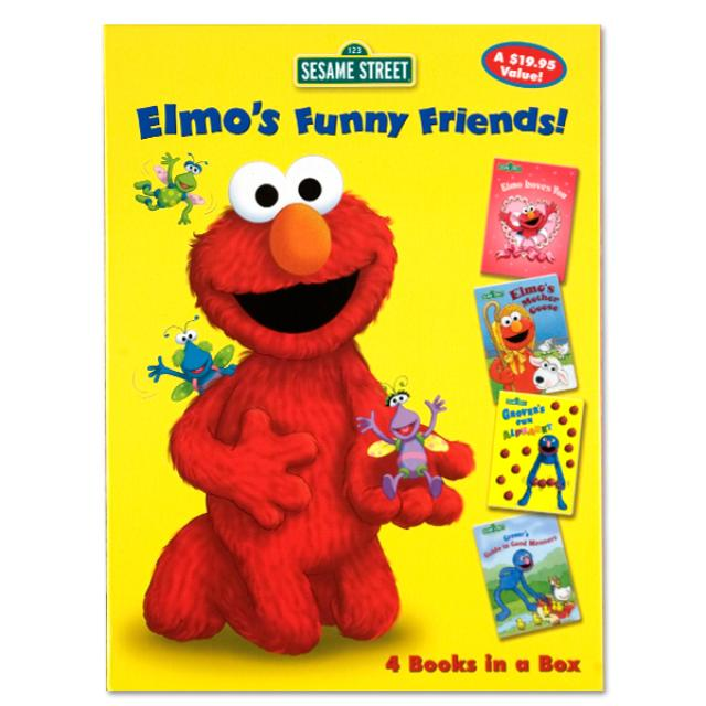 Sesame Street Elmo's Funny Friends 4 Book Set