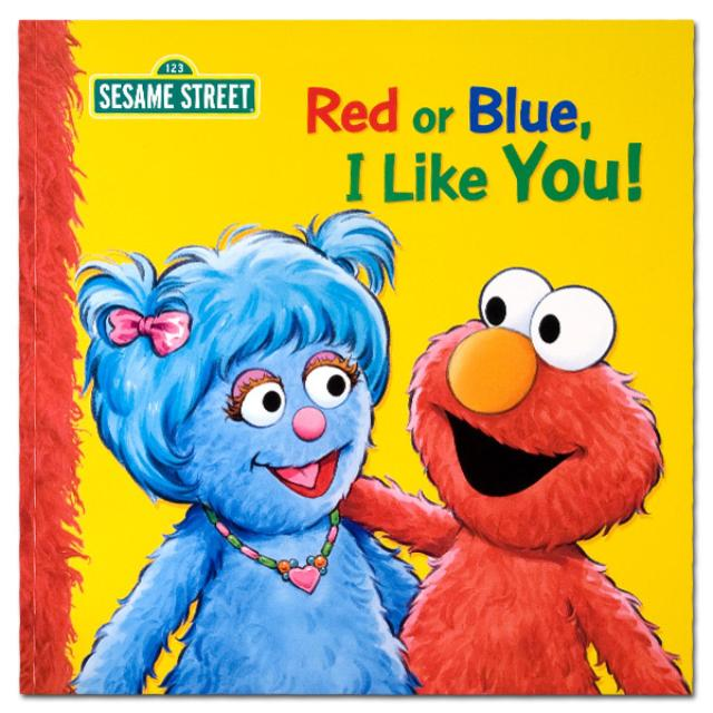 Sesame Street Red or Blue I Like You! Book