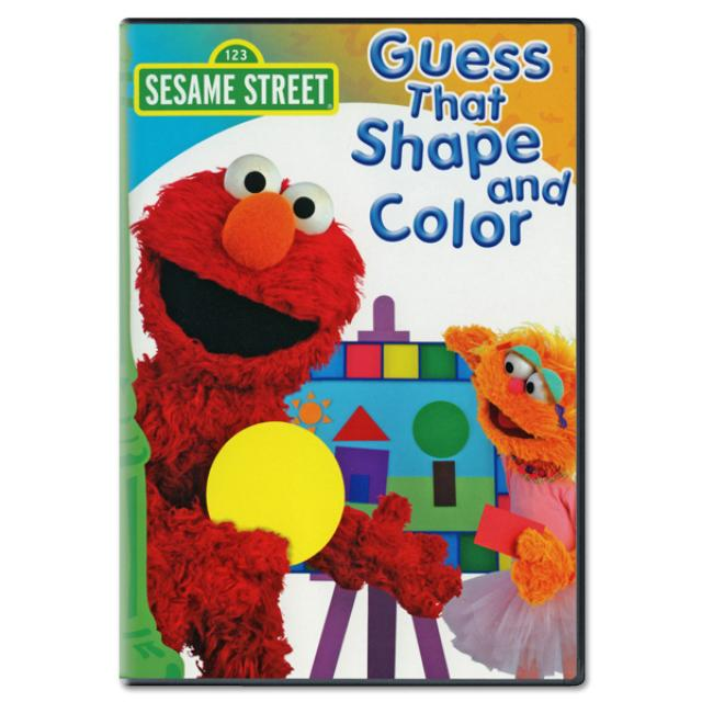 Sesame Street Guess That Shape And Color DVD