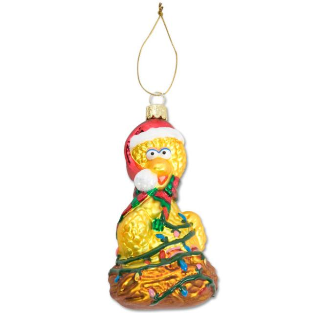 Sesame Street Big Bird Nest Glass Ornament