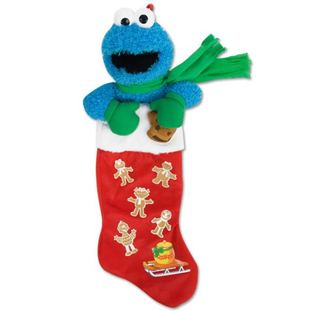 Sesame Street Cookie Monster Plush Stocking