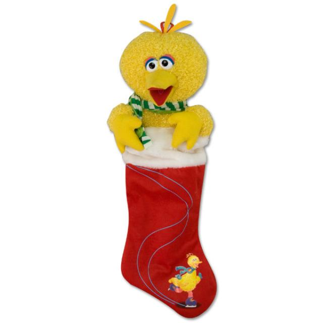 Sesame Street Big Bird Plush Stocking