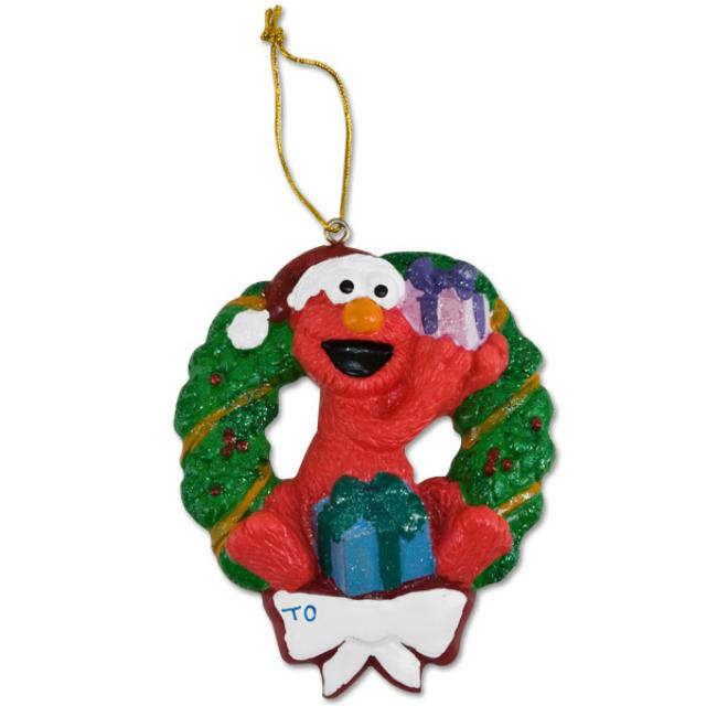 Sesame Street Elmo Wreath Ornament