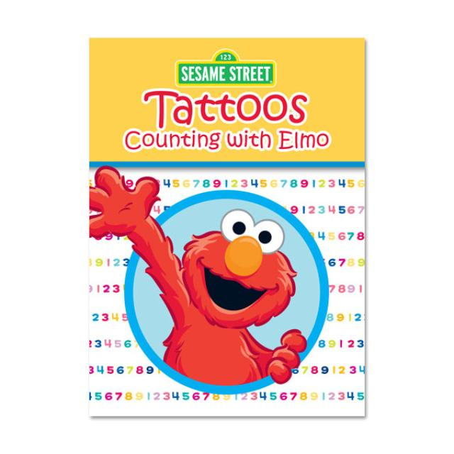 Sesame Street Counting w/ Elmo Tattoo Book