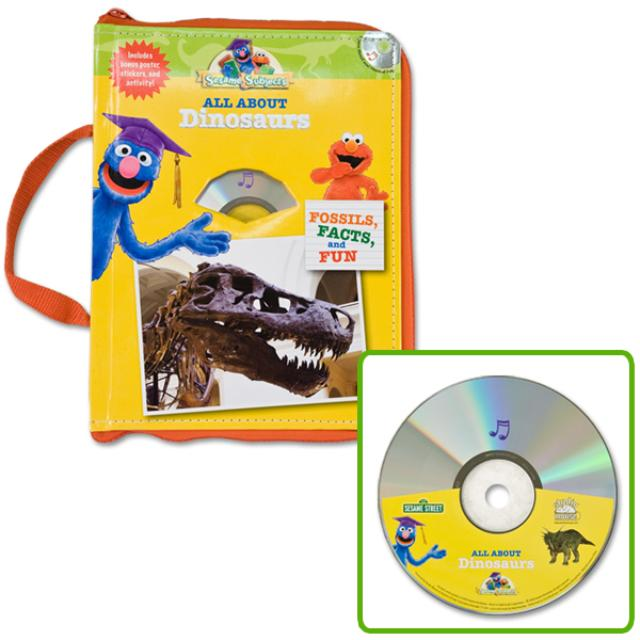 Sesame Street All About Dinosaurs Book/CD/Poster
