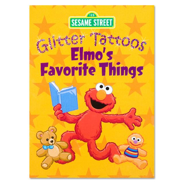Sesame Street Elmo's Favorite Things Glitter Tattoos Book