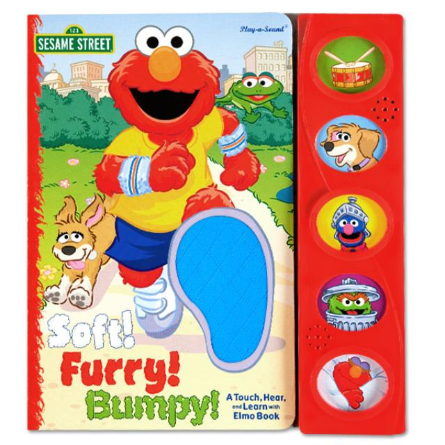 Sesame Street Soft! Furry! Bumpy! A Touch, Hear, and Learn with Elmo Book