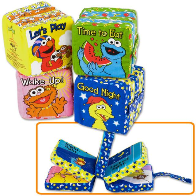 Sesame Street All Day With Sesame Block Book 4-Pack