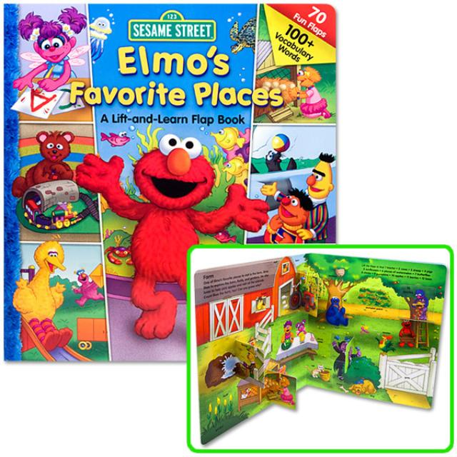 Sesame Street Elmo's Favorite Places Book