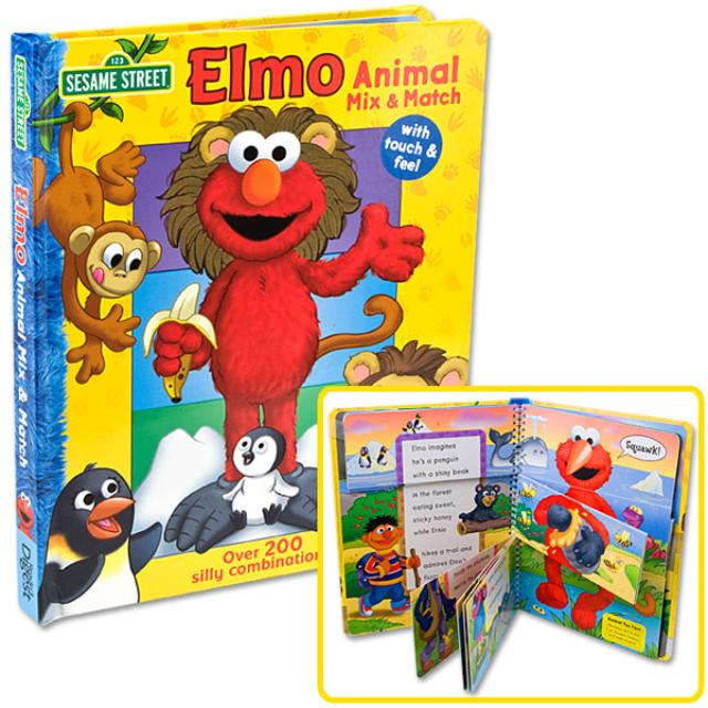 Sesame Street Elmo Animal Mix & Match Book
