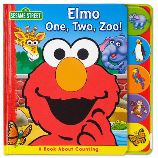 Sesame Street Elmo One, Two, Zoo! Book