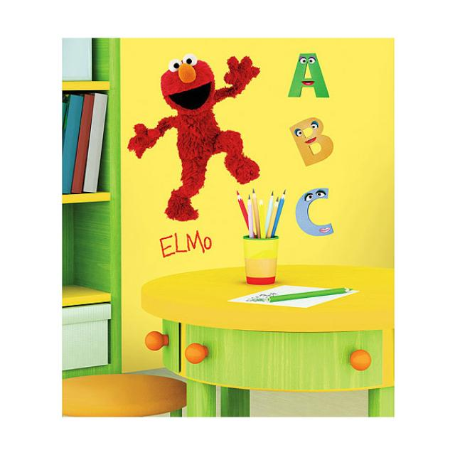 Sesame Street Elmo Peel and Stick Wall Decal