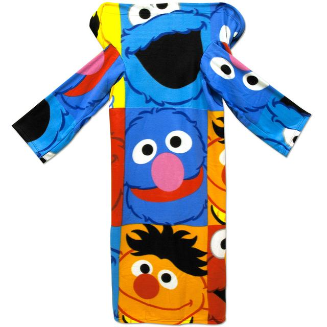 Sesame Street Sesame Characters Youth Fleece Throw with Sleeves