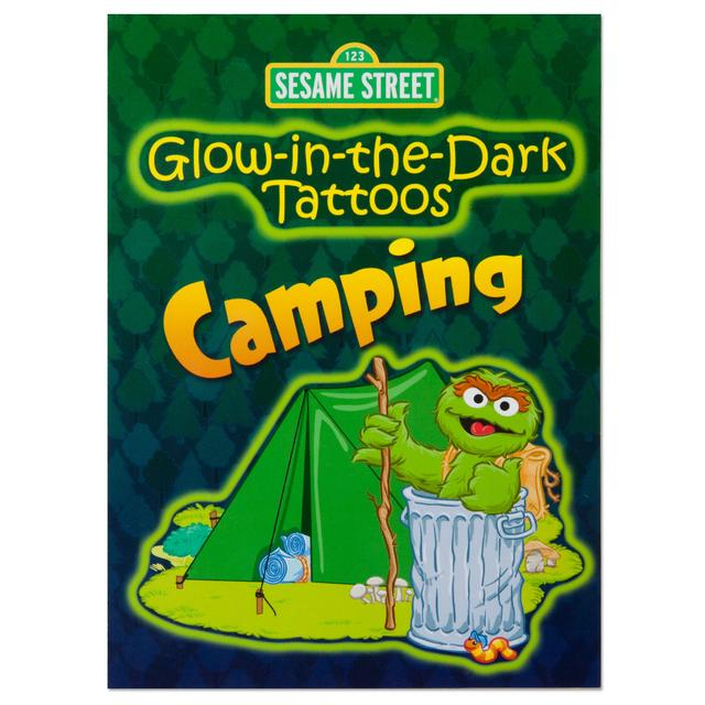 Sesame Street Glow-in-the-Dark Camping Tattoo Book