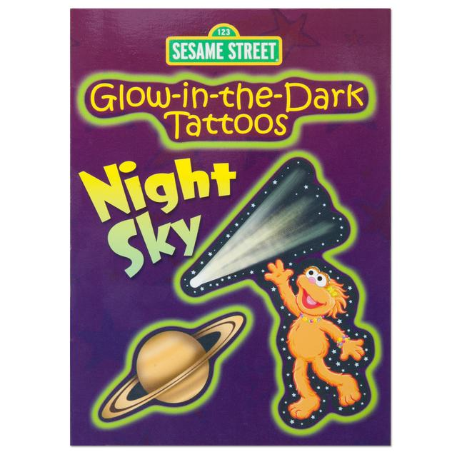 Sesame Street Glow-in-the-Dark Night Sky Tattoo Book