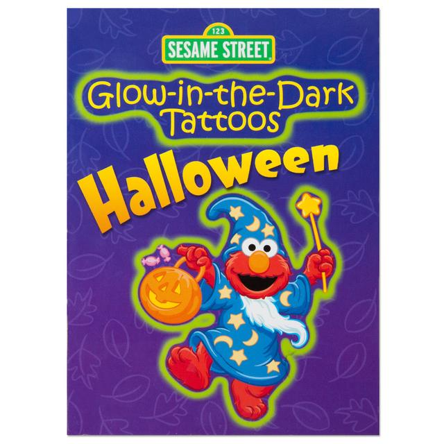 Sesame Street Glow-in-the-Dark Halloween Tattoo Book