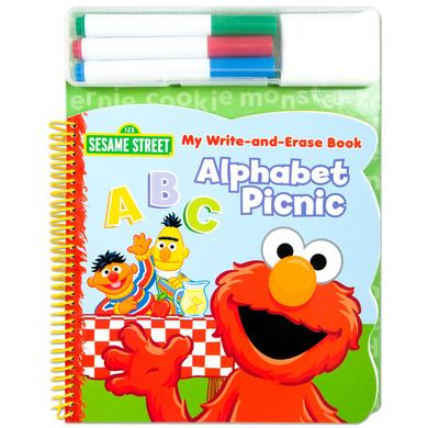 Sesame Street Elmo Write & Erase Alphabet ABC Book