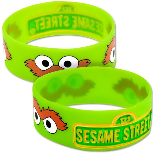 Sesame Street Oscar the Grouch Silicone Wristband