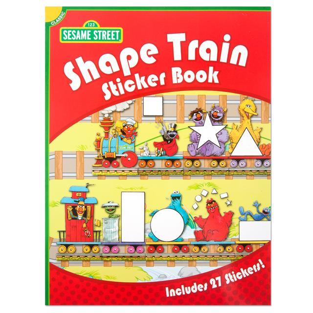 Classic Sesame Street: Shape Train Sticker Book