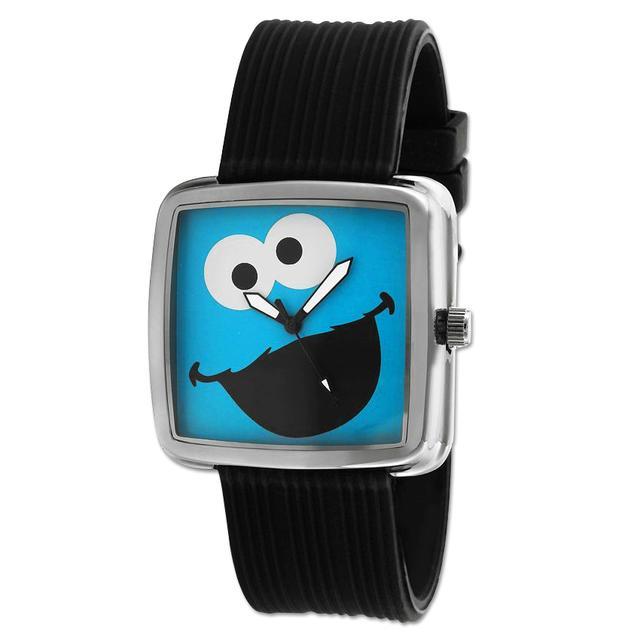 Sesame Street Cookie Monster Gun Metal Watch