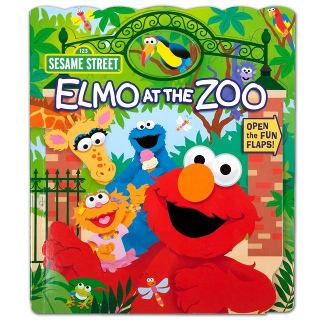 Sesame Street Elmo Who's at the Zoo? Book