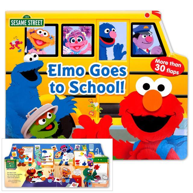 Sesame Street Elmo Goes to School Book