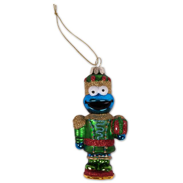 Sesame Street Cookie Monster Glass Nutcracker Ornament