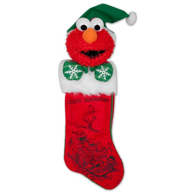 "Sesame Street 22"" Elmo Plush Head Stocking"