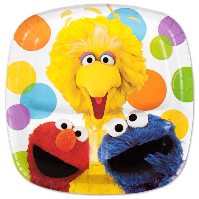 Sesame Street Elmos Party Pocket Dinner Plate