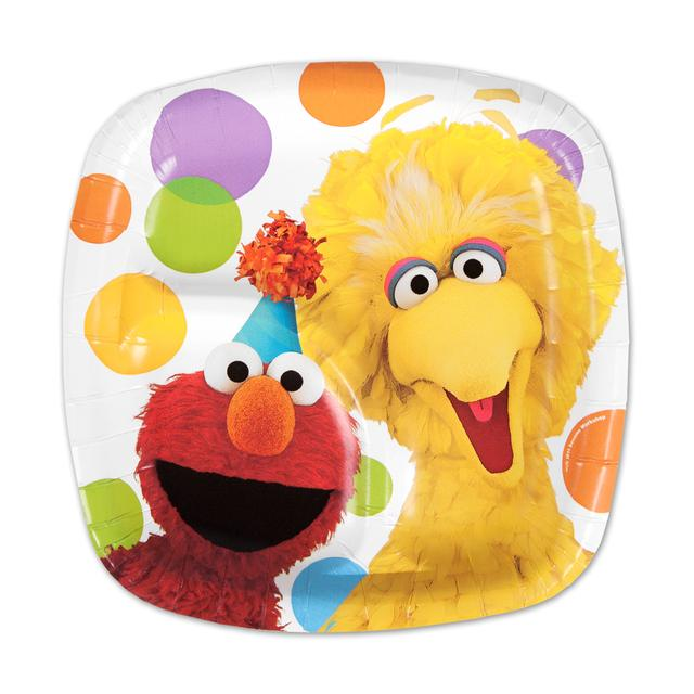 Sesame Street Elmos Party Pocket Dessert Plate
