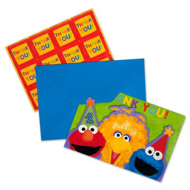Sesame Street 1st Birthday Thank You Cards