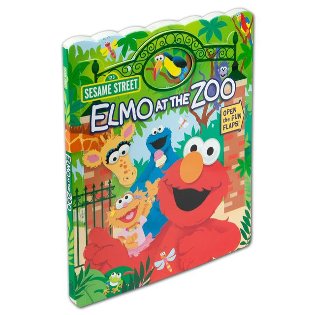 Sesame Street Elmo at the Zoo Book