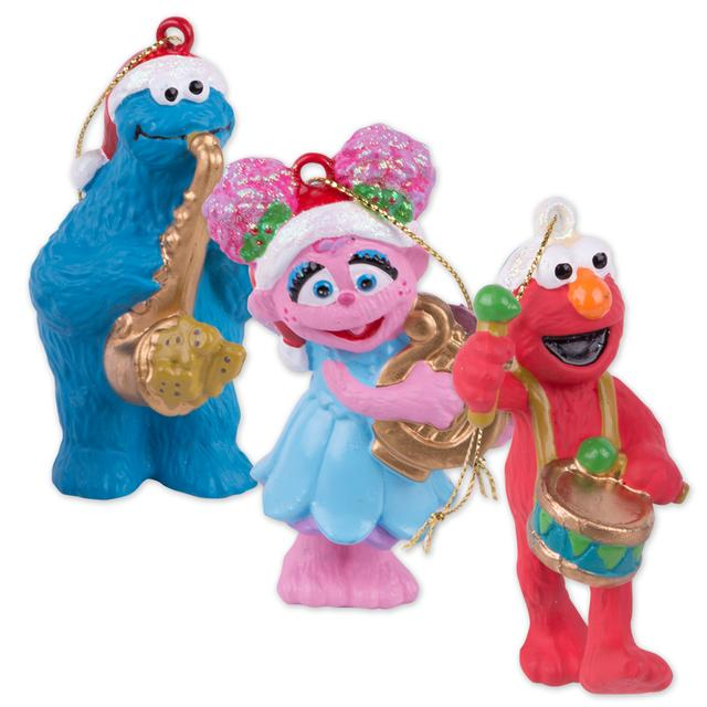 The Sesame Street Band Glass Ornament Set