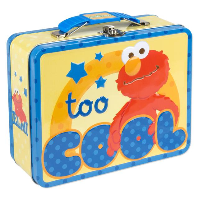 Sesame Street Elmo Too Cool Large Tin Lunch Box