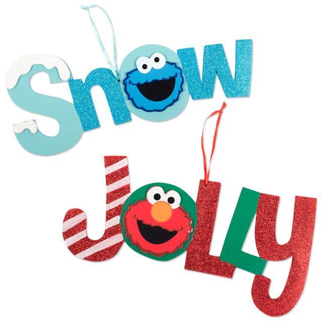 Sesame Street Elmo & Cookie 2pc. Signs