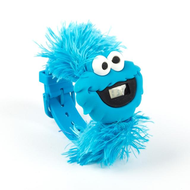 Sesame Street Cookie Monster Big Face Furry Watch
