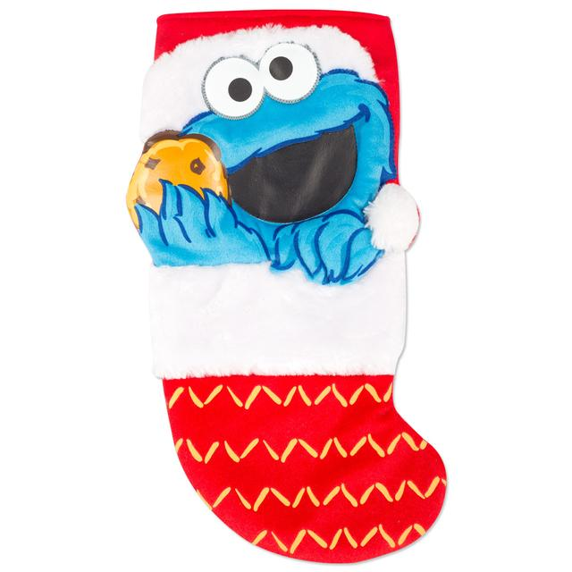 Sesame Street Cookie Monster Applique Stocking