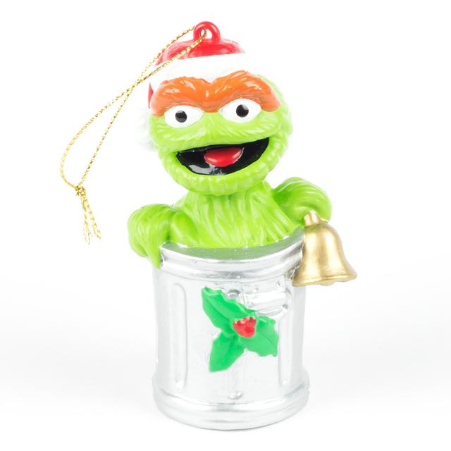 Sesame Street Oscar the Grouch Trash Can Ornament